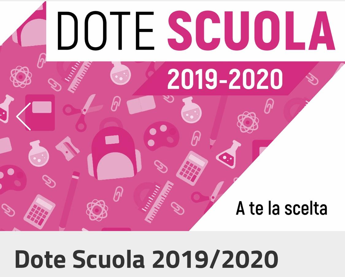stile alla moda top design Vendita scontata 2019 Dote scuola Regione lombardia 2019/2020 - Qui Bollate Online
